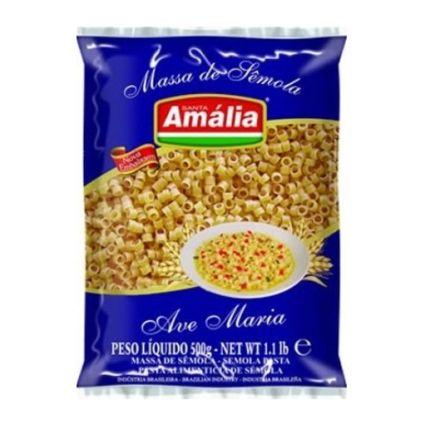 MACARRAO S AMALIA SEMOLA AVE MARIA 20X500GR FD