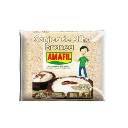 CANJICA BRANCA 500GR - AMAFIL