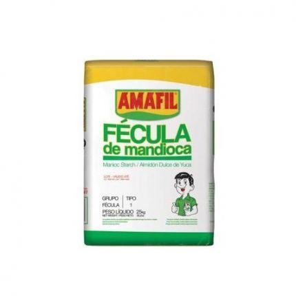FECULA DE MANDIOCA BRANCA 25KG - AMAFIL