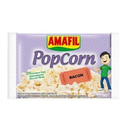 PIPOCA MICROONDAS BACON - AMAFIL