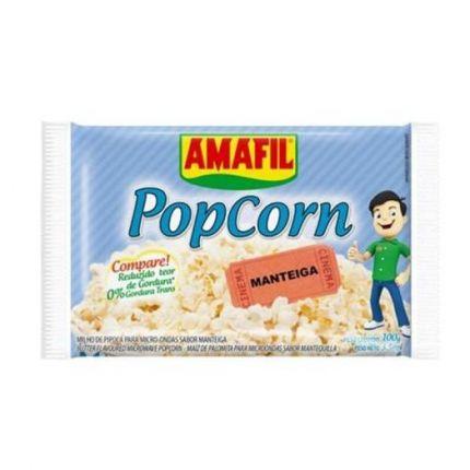 PIPOCA MICROONDAS MANTEIGA - AMAFIL